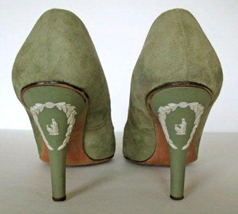 Rayne Wedgewood heels, 1958