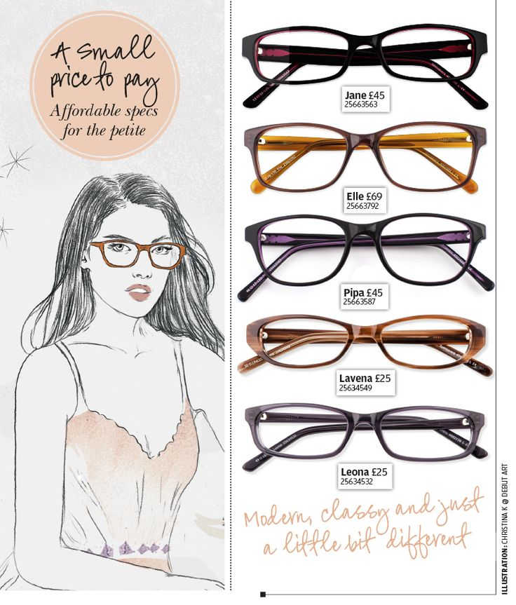 Petite women's glasses for smaller faces.