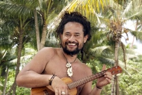Mikaele Maiava, Artistic Director of Water Is Rising Tour. His home, Tokelau, is now directly affected by Climate Change.