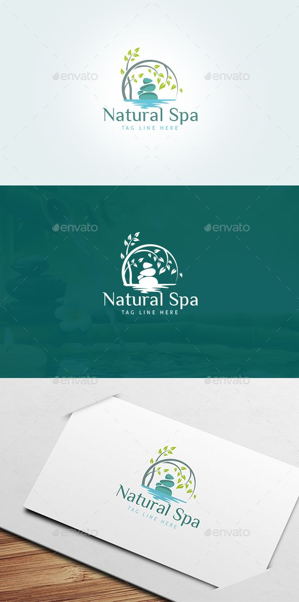 Natural Spa Logo Transparent PNG Template  • Only available here ➝ http://graphicriver.net/item/natural-spa-logo-template/16774928?ref=pxcr