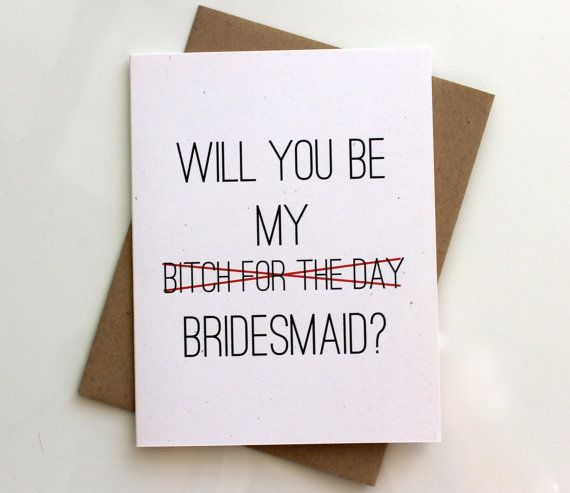 Bridesmaid Invitation Will you Be My Brides Maid by PattersonPaper