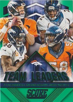 2015 Score - Team Leaders Green #25 C.J. Anderson / Demaryius Thomas / Peyton Manning / Von Miller Front
