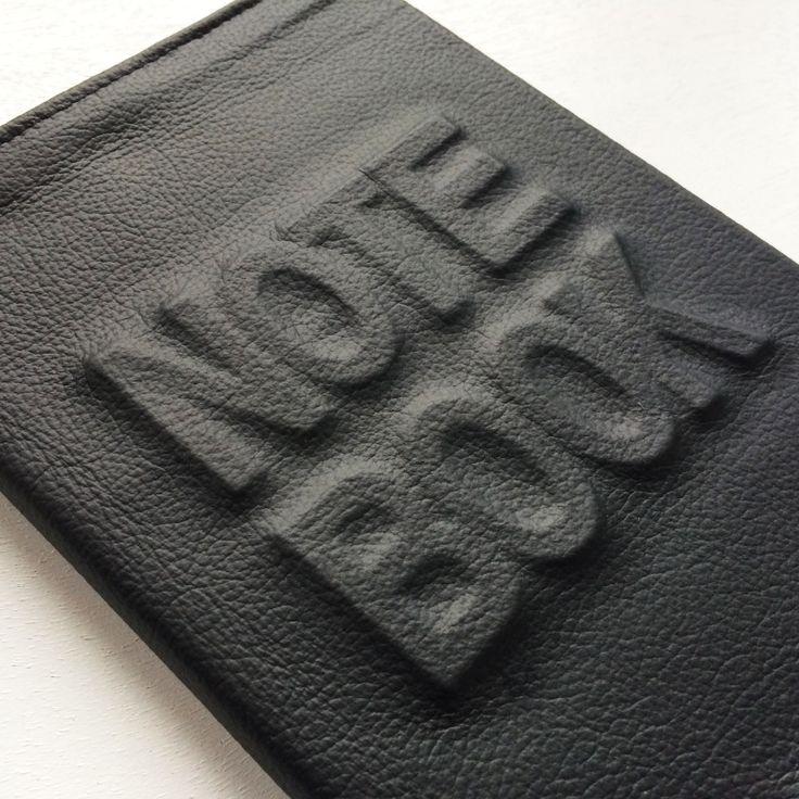 """""""Notebook"""" leren NOTITIEBOEK hoes"""