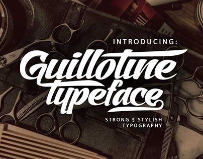 """Check out new work on my @Behance portfolio: """"Guillotine Font"""" http://be.net/gallery/40249617/Guillotine-Font"""