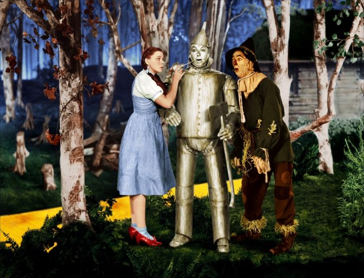 Dorothy And The Scarecrow Helping The Tinman The Wizard