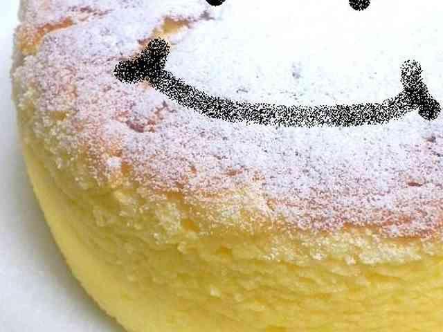 ハロウィン☆材料3つスフレチーズケーキの画像