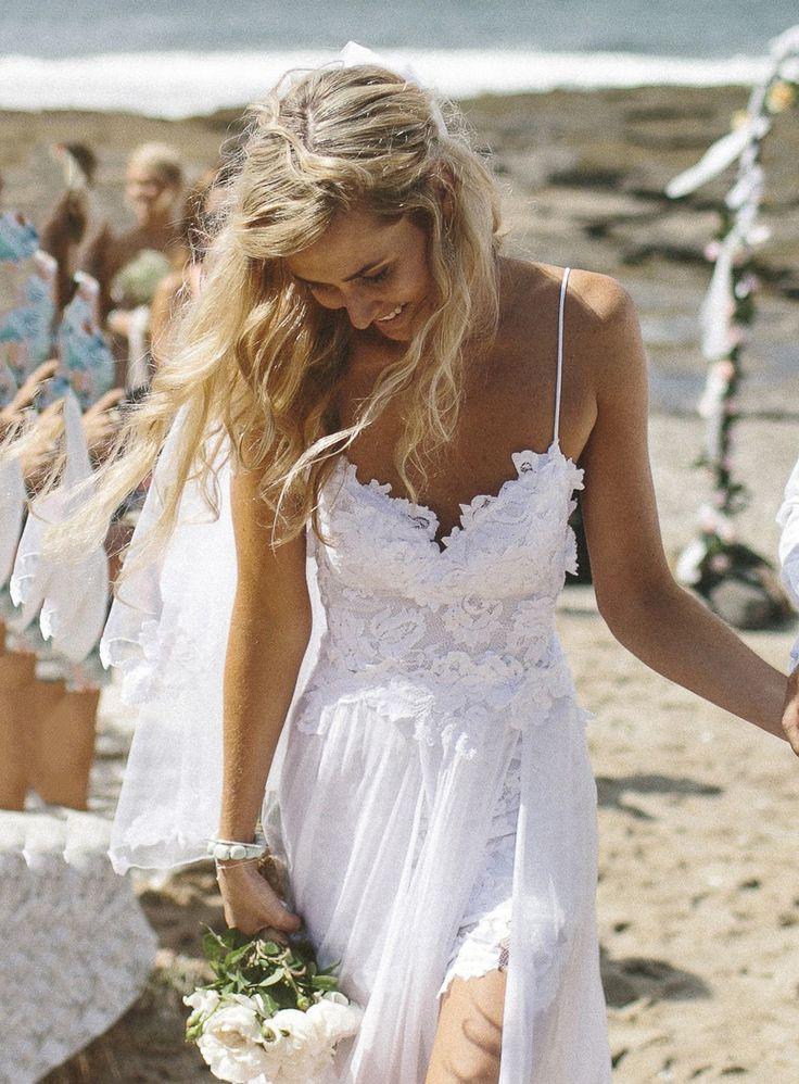 Sexy Sweetheart A-Line Floor-Length Backless Beach Wedding Dress