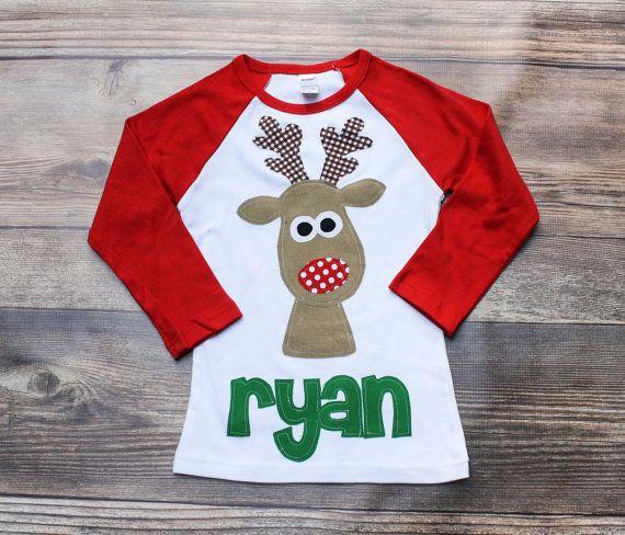 Navidad Reno camisa niños Navidad camisa por roundthebendagain