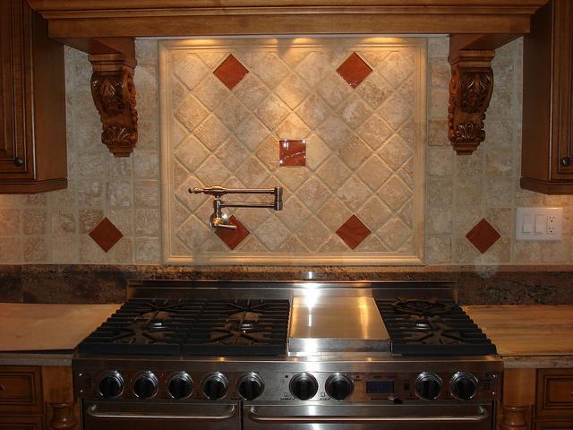 Kitchen Backsplash With Copper Inserts By Generation Tile U0026 Stone, Via  Flickr
