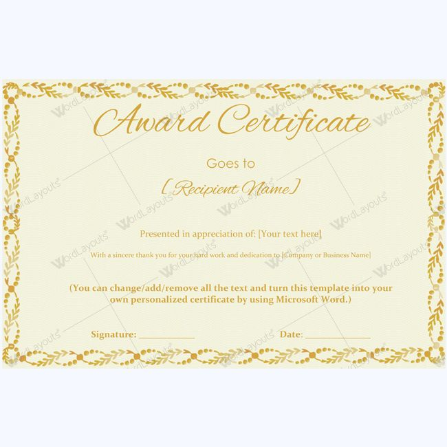 99 best Award Certificate Templates images on Pinterest Award - award certificates templates