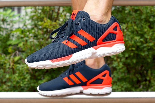 Adidas Zx Flux Navy And Orange