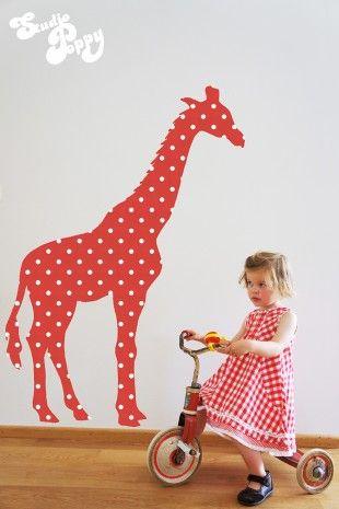 Behangbeest giraffe