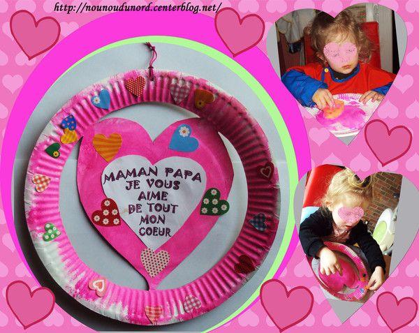 Coeur de Soline dans une assiette en carton , explications sur mon blog