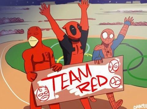 Red Time ' ' '   (O / O) '   '   ' #daredevil   #deadpool   #spiderman …