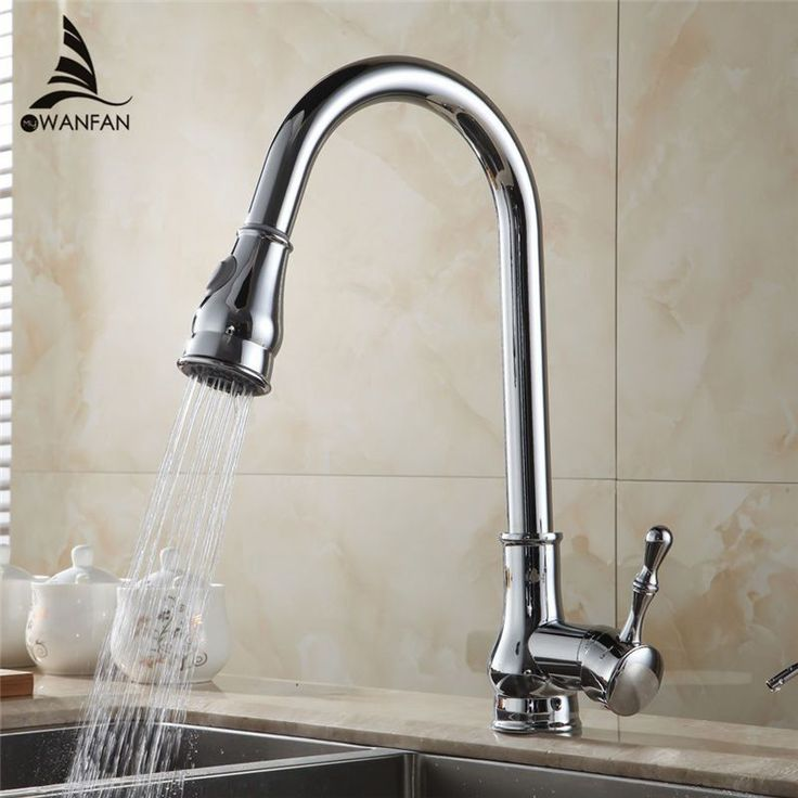 Shipping Modern Hot & Cold Device Chrome Finish Swivel Pull Out Kitchen Sink &Bathroom Basin Mixer Tap Faucet Gyd-5101L