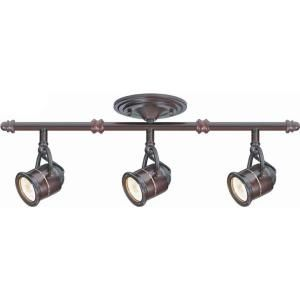 Hampton Bay 3-Light Antique Bronze Ceiling Bar Track Lighting Kit (EC4885ABZ at The Home Depot)