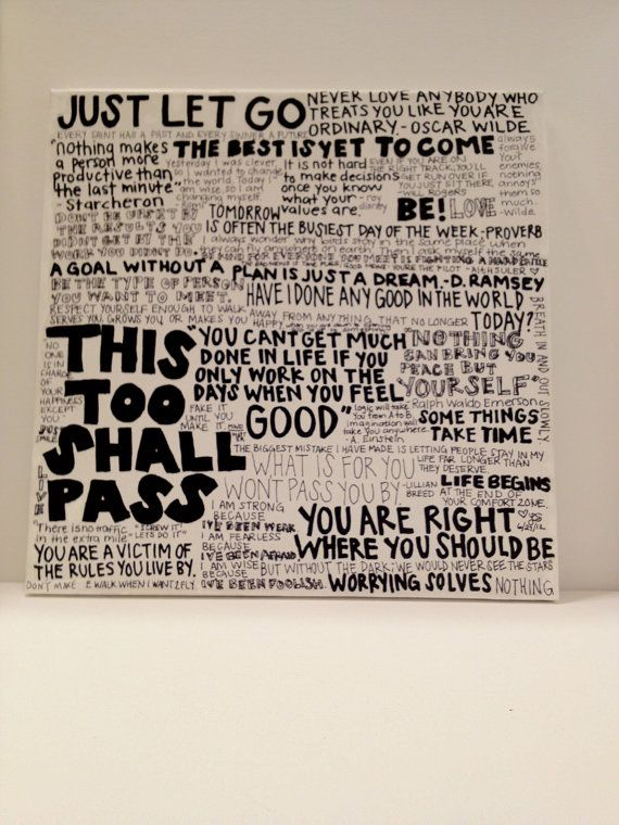 Quotes Collage by LiatDesign on Etsy, $75.00