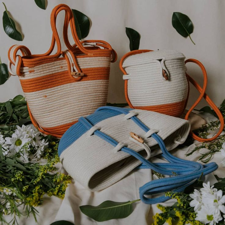 Handcrafted cotton rope bags by Palmito
