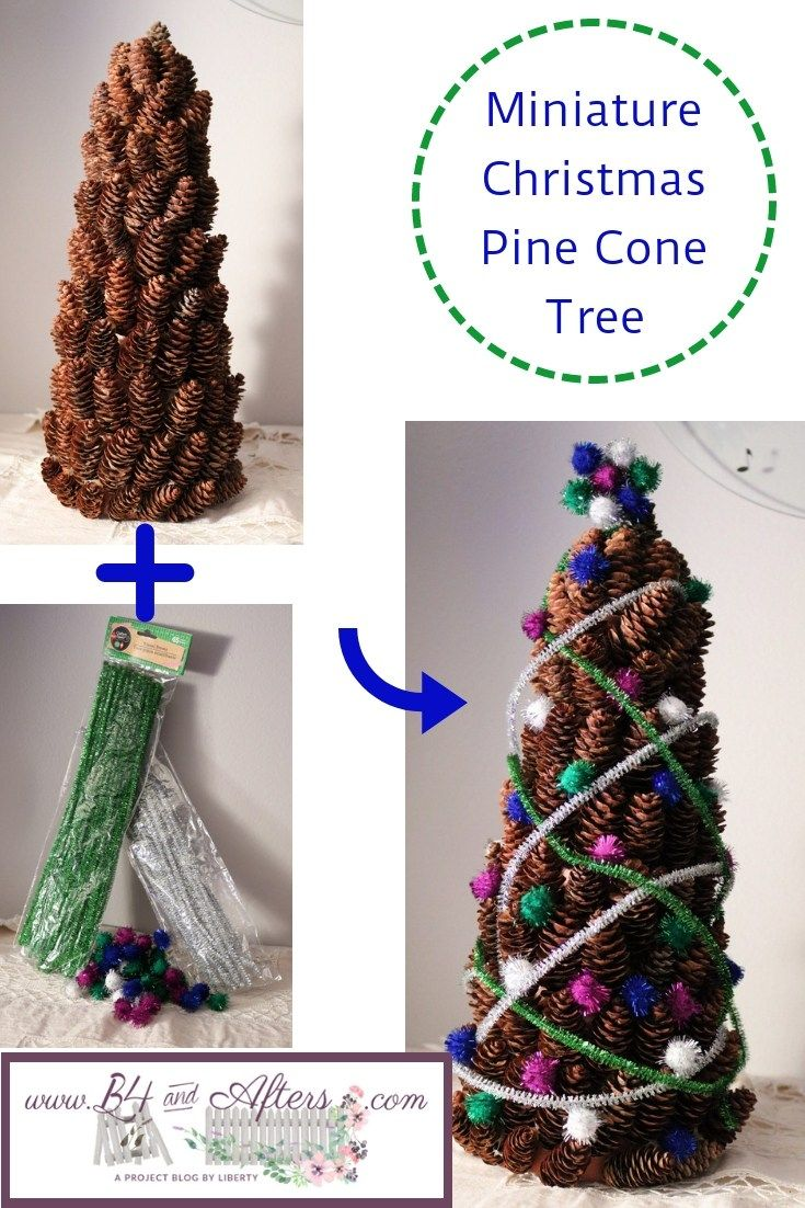 Miniature Christmas Pine Cone Tree With Images Christmas Pine Cones Miniature Christmas Christmas Tree Crafts