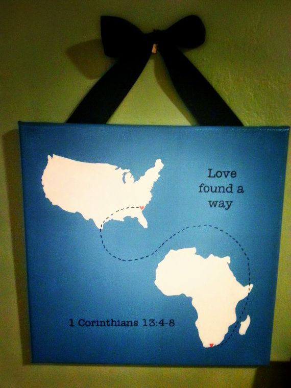 What a precious gift for families who are adopting or who have adopted! Adoption Art  USA to Africa