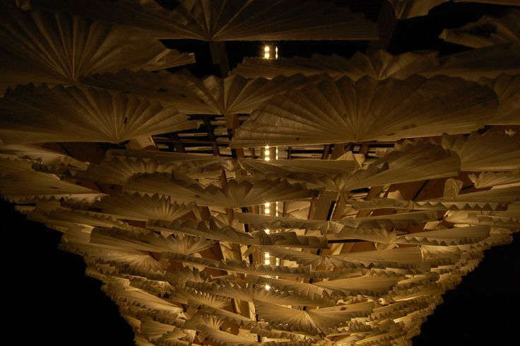 PAPER FAN COLUMN PAVILLION UNKIND #paper #fan #column #pavillion #architecture #design #landscape