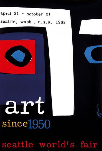 1962 'Art since 1960. Seattle world expo' poster