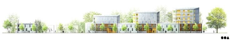 SOA Architects - Housing units Blanc Mesnil _ architecture elevation