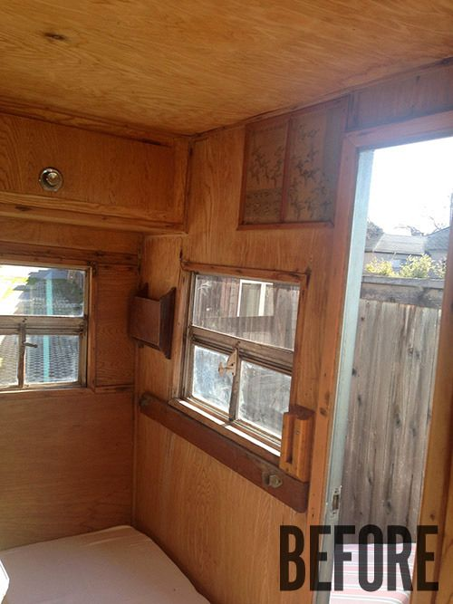 Best Camper Repurpose Images On Pinterest Vintage Campers - Old shabby trailer gets one hell makeover
