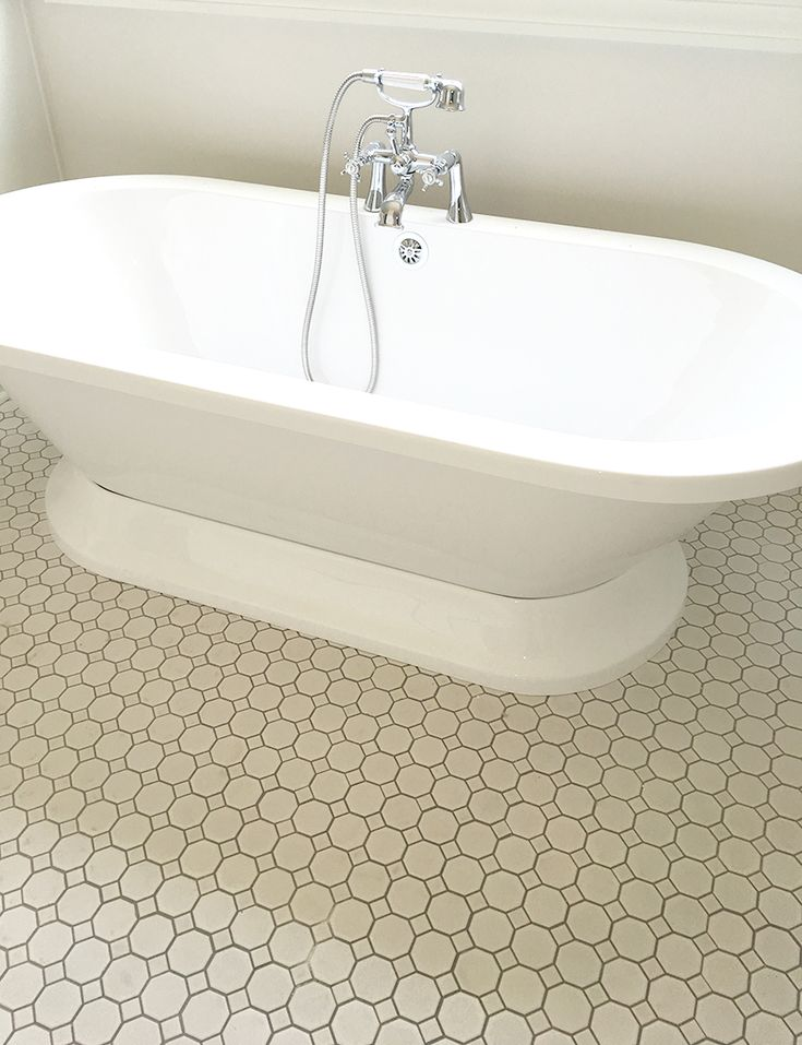 Love This Classic White Octagon Mosaic Floor Tile