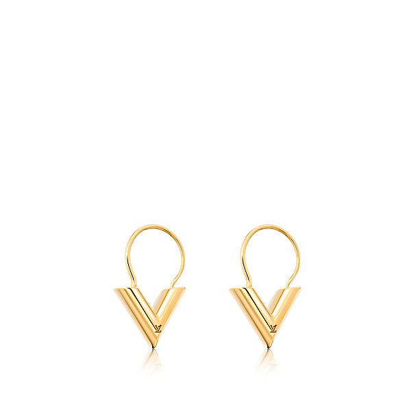 Discover Louis Vuitton Essential V Hoops Sleek And Elegant The Small Hoop Earrings Are Perfect Example Of Style