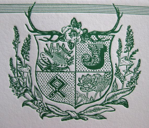 great idea for luxury christmas present...letterpress custom family crest notecards!
