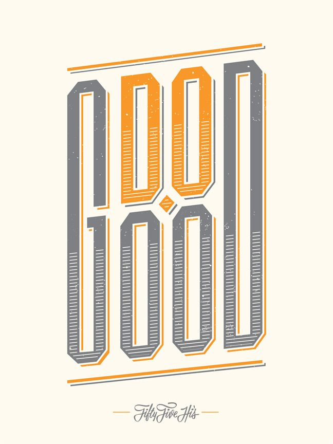 Do Good Screenprint |Fifty Five Hi's $17.99 // I like this for either the home office or the office office.