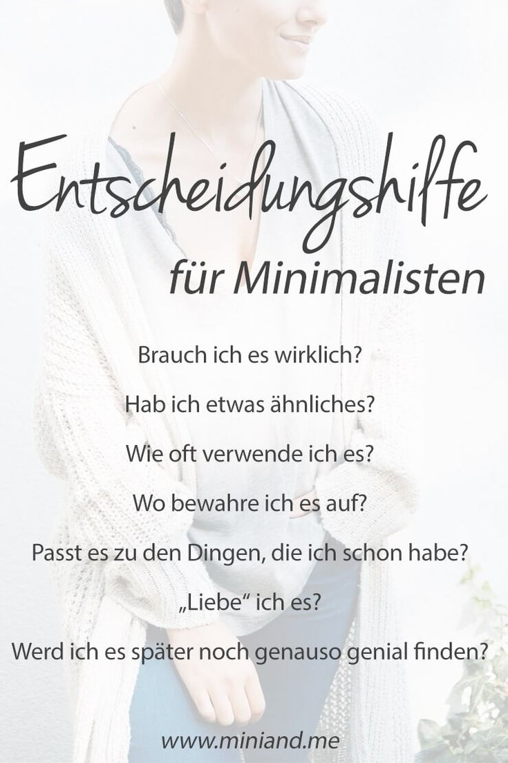 Entscheidungshilfe für Minimalisten: Mit diesen 7 Fragen kaufst du nur noch, was dich ehrlich happy macht via @miniandmeblog