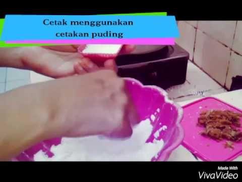 Resep kue putu bambu. Cetakan bambu bisa diganti dengan cetakan puding. Yuuk lihat langkahnua di YouTube