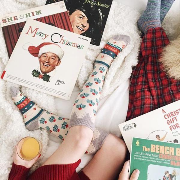 Comfy pyjamas and Christmas music = the perfect combination