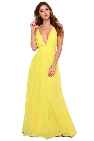 1000  ideas about Yellow Maxi Dress on Pinterest - Long yellow ...