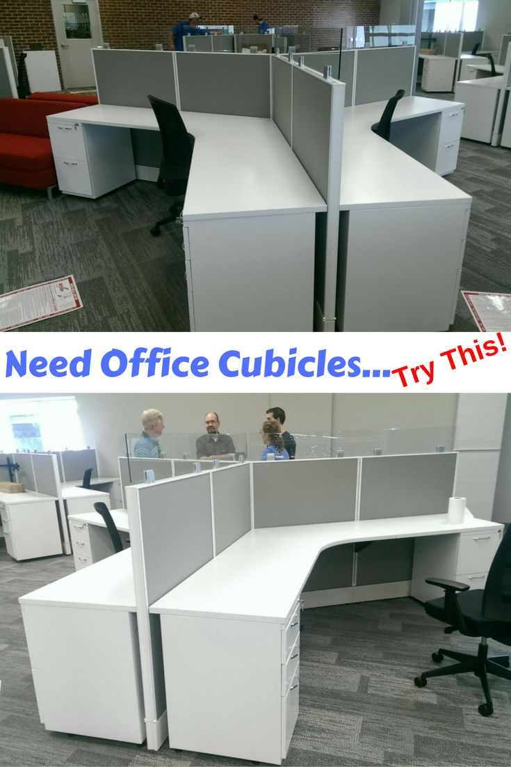 New AIS Office Cubicles Installed In Kansas City. The Office Cubicles Have  A 120 Degree