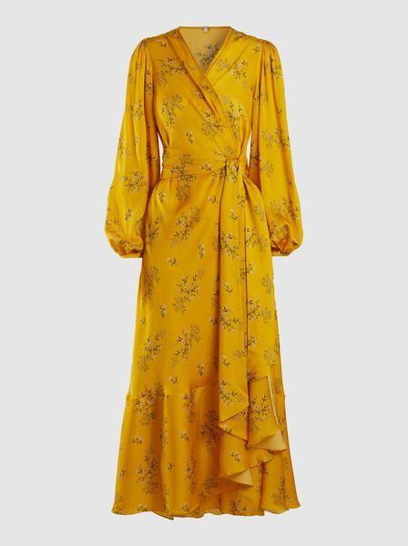 3cb8cab22a9 Johanna Ortiz - Floral-Print Silk-Satin Wrap Dress