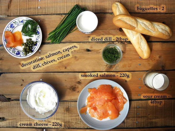 Salmon mousse appetizers- the ingredients