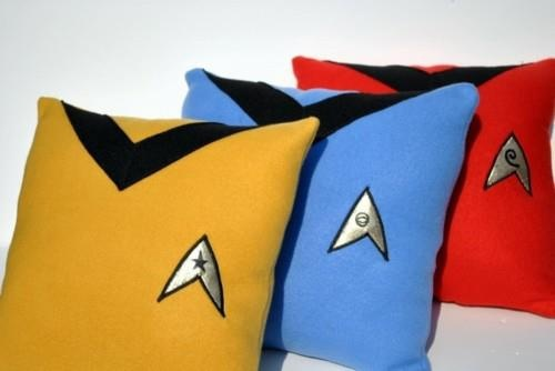 For real?!?! Awesomely nerdy small pillows of star trek
