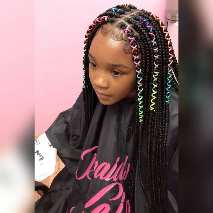 Braids By Keisha П��🦄kids Medium Waist Length Box Braids