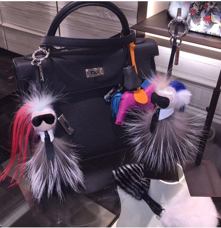 Karlito Fendi Monster fur key chain bag bug