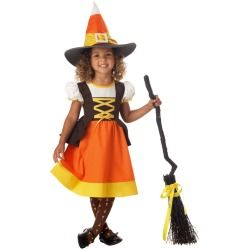 Toddler and Girls Candy Corn Witch Costume - Halloween Costumes