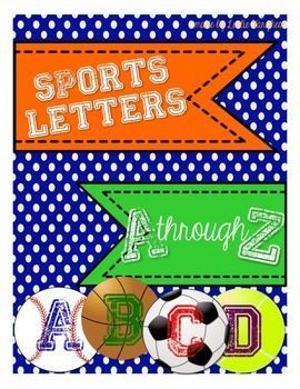 The perfect addition to your sports themed classroom decor!  4 designs:baseball, basketball, soccer, and tennis lettered A-Z plus ! and ?.  Ideal for labeling student cubbies, backpack hooks, lockers, book baskets, word walls, posters, etc.