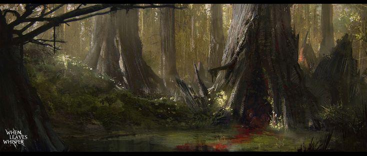 ArtStation - When Leaves Whisper - Swamps, Aleksey Pollack