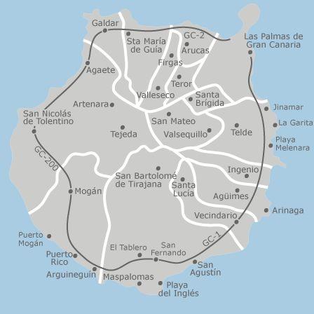 Mapa de Gran Canaria, Las Palmas — idealista #tiquetesdeavion