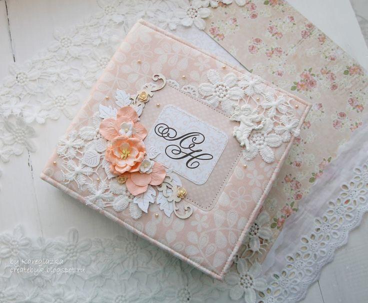 Свадебный альбом в персиковых тонах