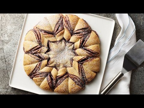 Nutella™-Raspberry Crescent Snowflake recipe from Pillsbury.com