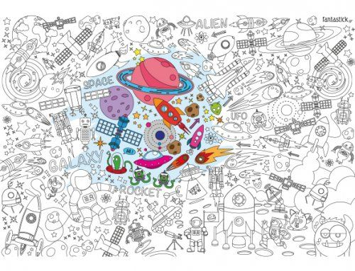 Χρωμοαφίσα Space/ Supersized colouring poster Space