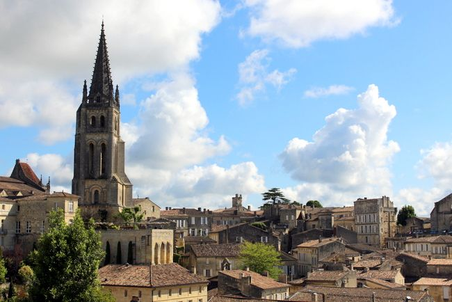 View from the top in St. Emilion, France, on our river cruise.